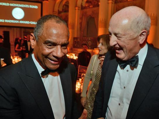 The two award-winners: Kenneth Chenault and the Duke of Devonshire