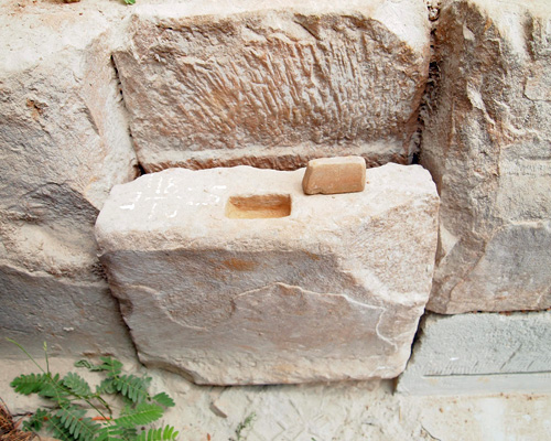 A stone mortise and tenon joint