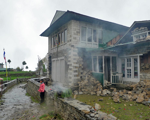 Puja house after the earthquake