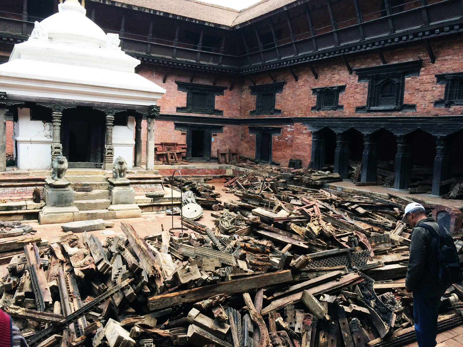 Rescued elements of Char Narayan Temple. Photo KVPT.