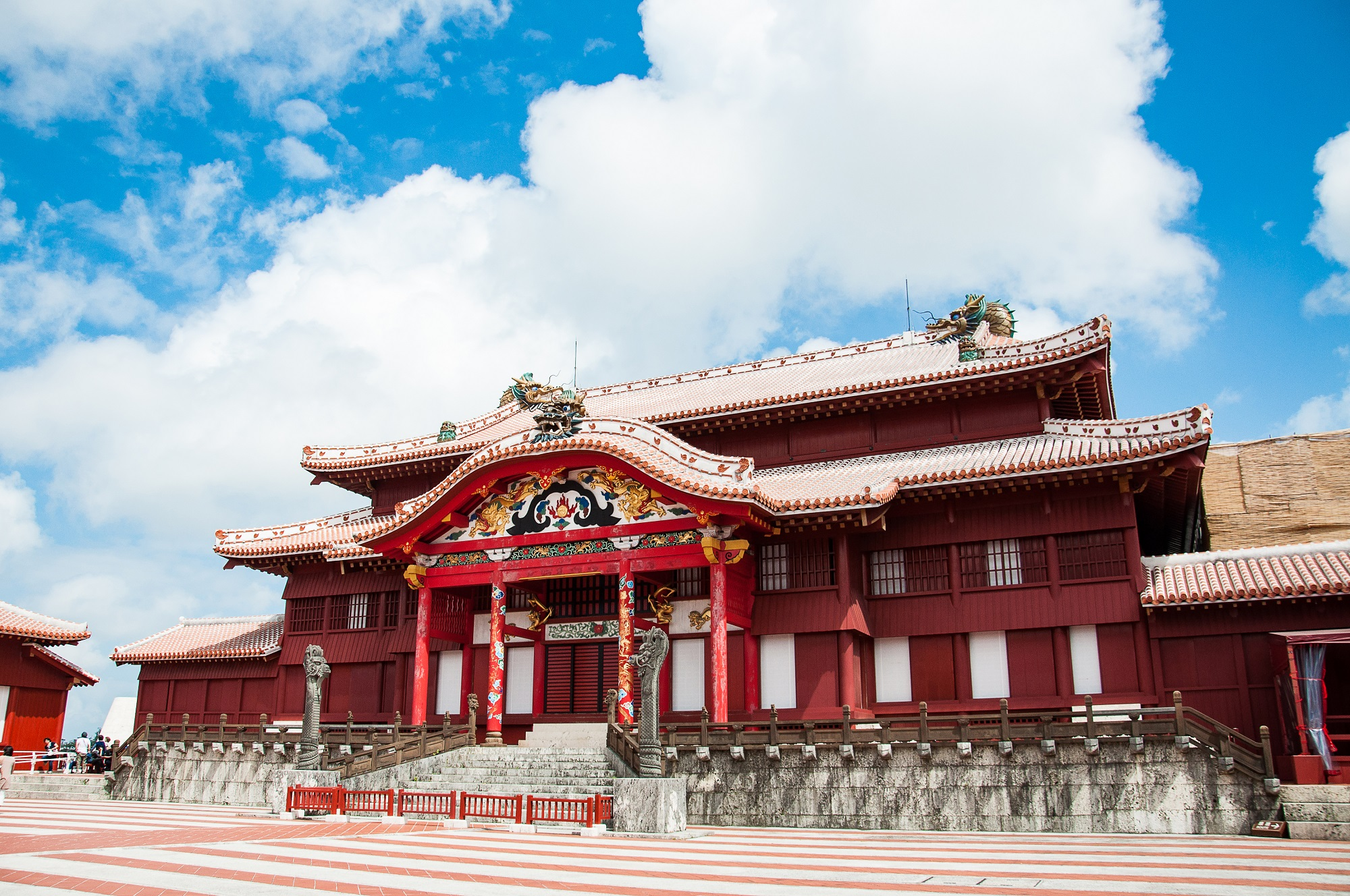Shuri Castle, before the fire.
