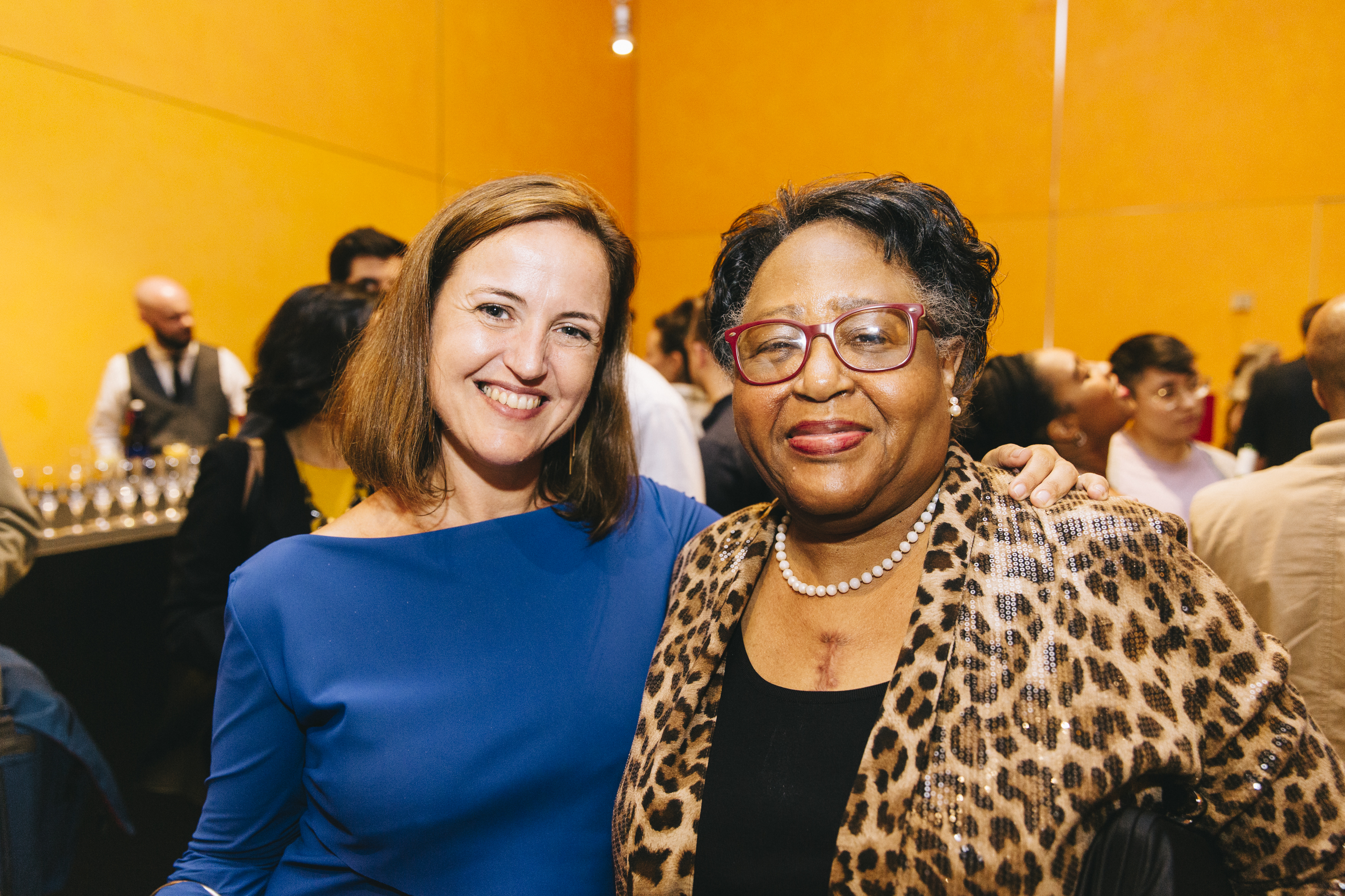 World Monuments Fund CEO Bénédicte de Montlaur and Joyce O'Neal. Image credit: Rowa Lee.