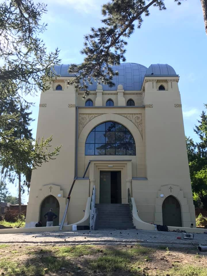 Kindler Chapel façade on September 24, 2020.