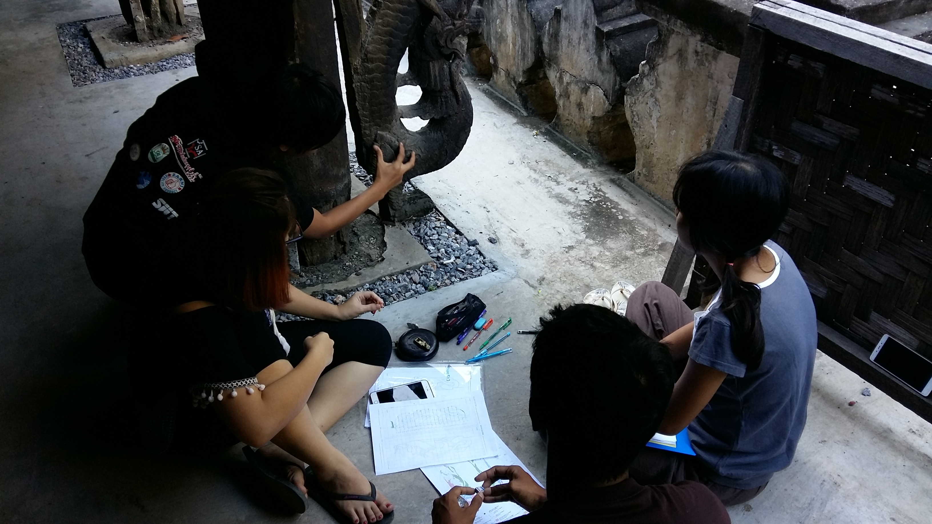 Students assess conditions of a nayar toward defining its conservation.