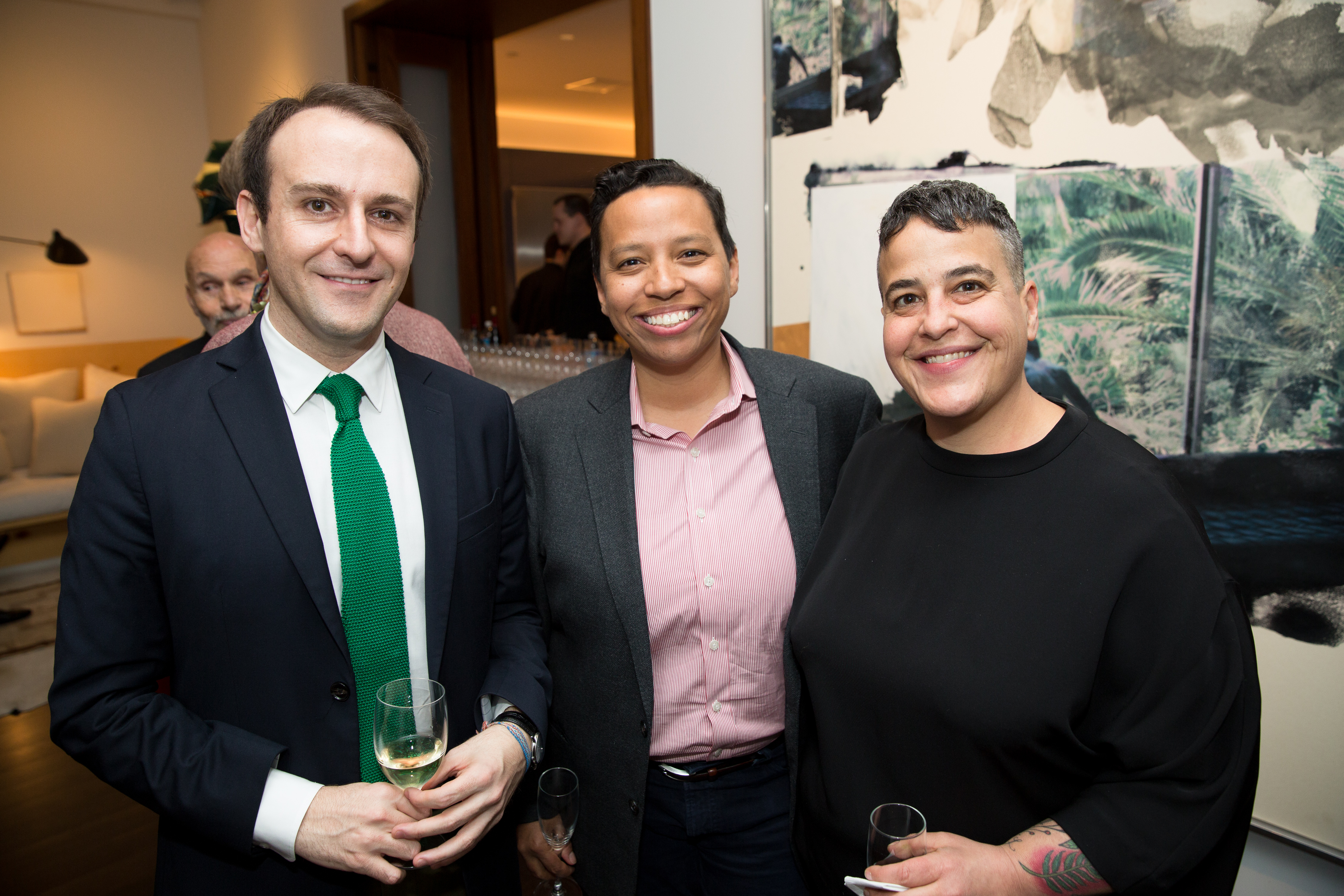 (L to R) Javier Ors Ausín, Lydia Polgreen, and Candace Feit.