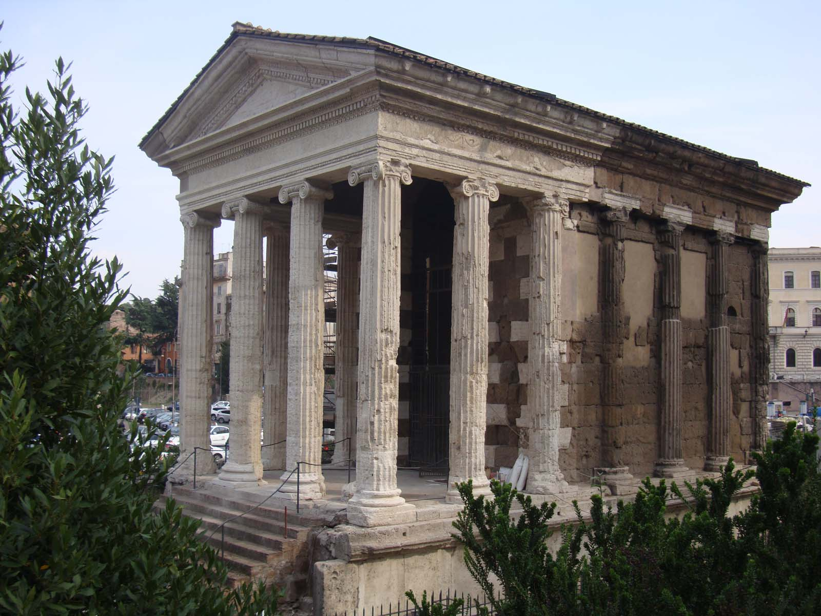 Temple of Portunus (Italy, 2006 Watch):  Funding from American Express helped to restore this rare survivor of Roman Republican architecture in Rome's Forum Boarium.