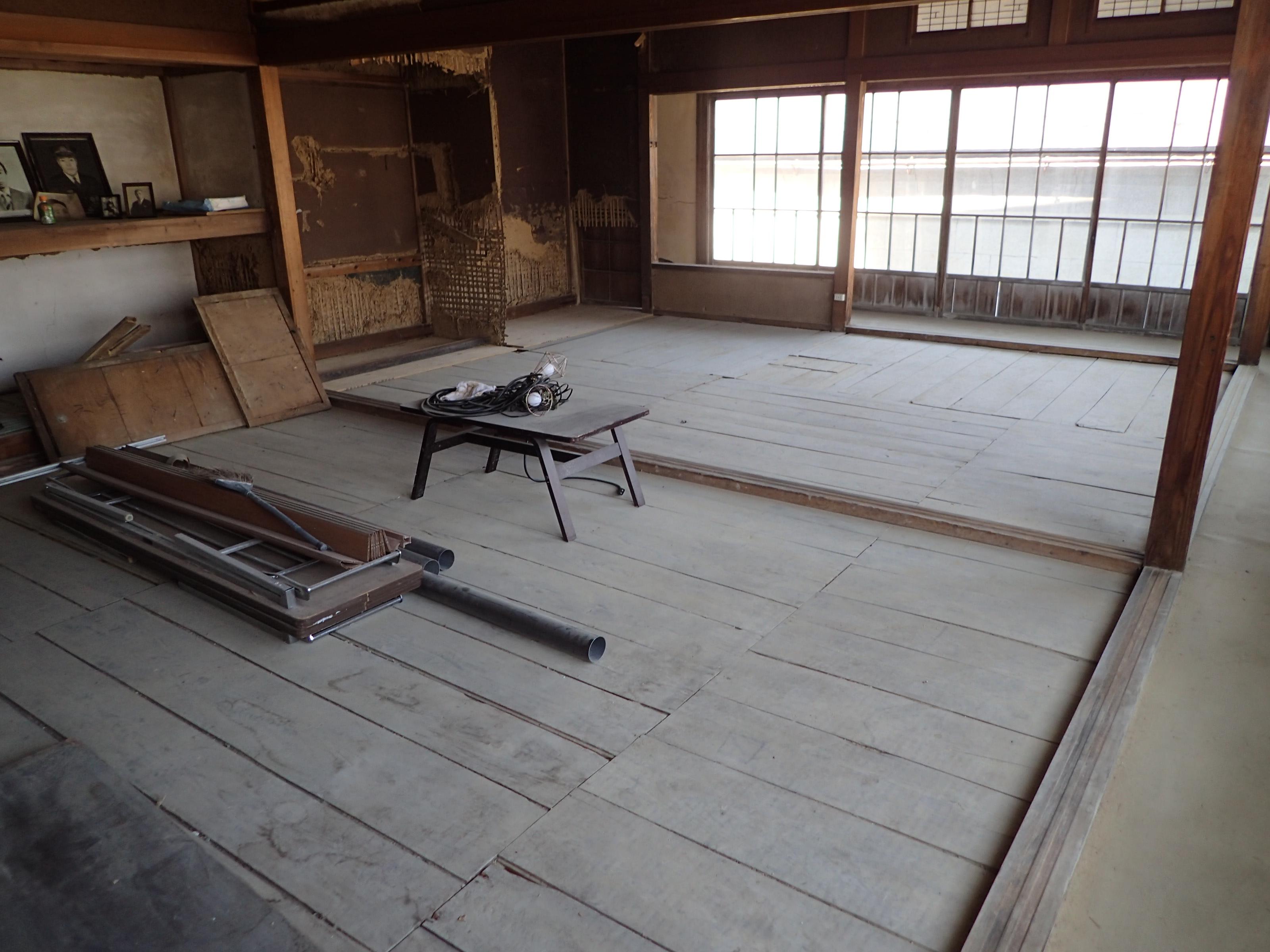 Chida house during conservation, Kesennuma, Japan