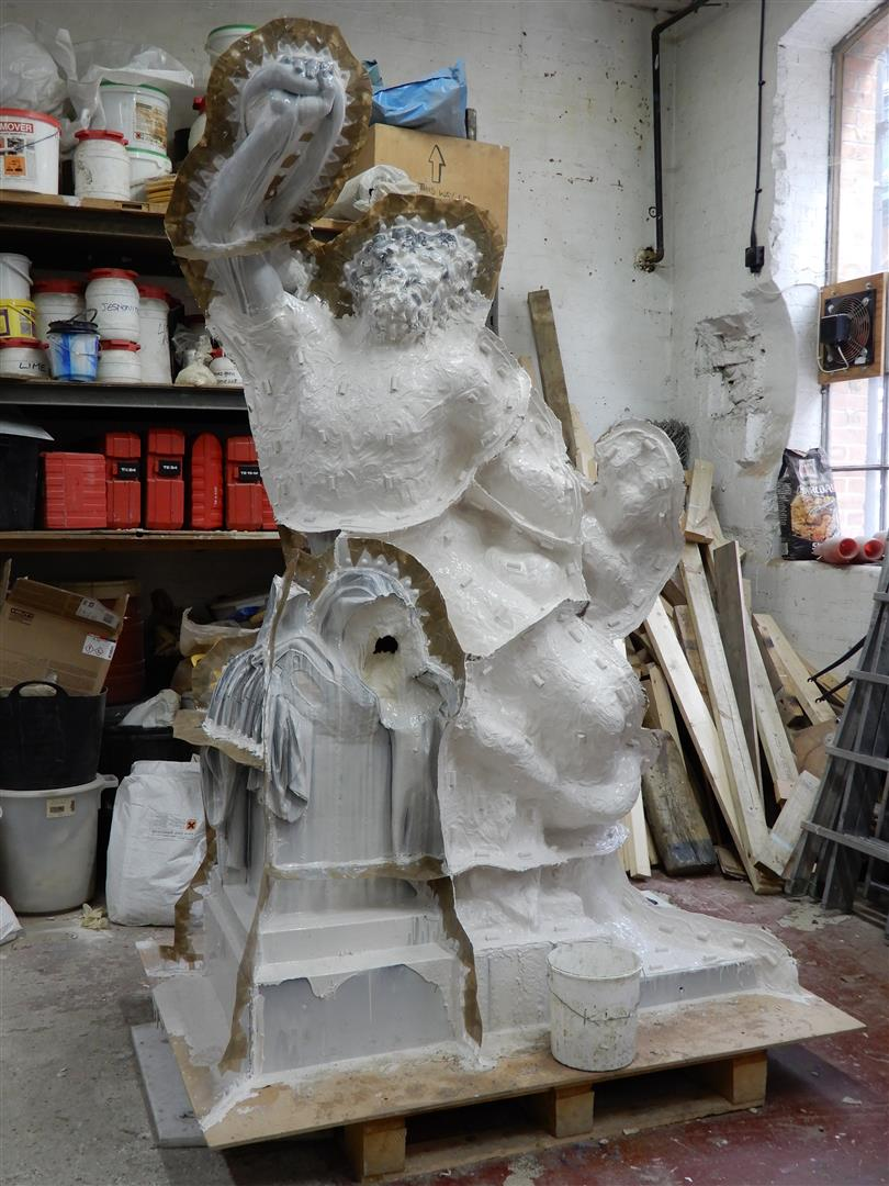The copy molded from the Laocoön that was once housed at Stowe House.