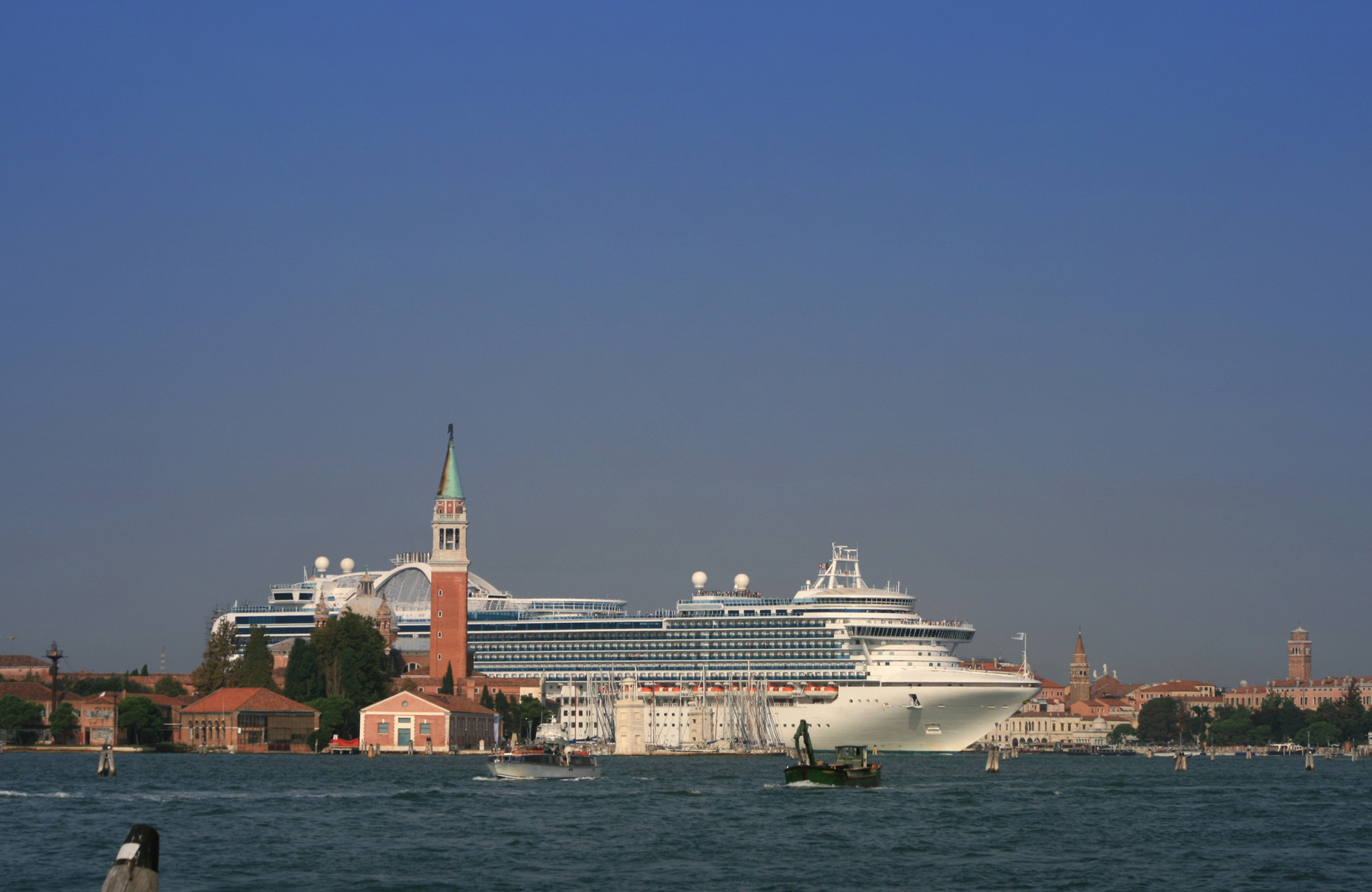 Cruise ship entering St. Mark's Basin, Venice, 2014