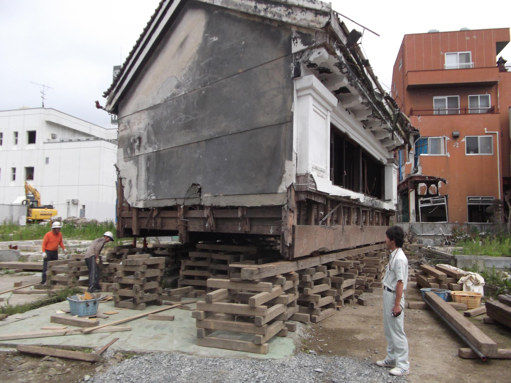 Kakuboshi Store during restoration, Kesennuma, Japan