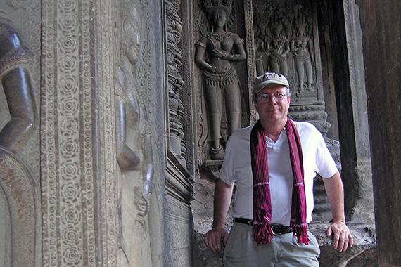 John Stubbs in Angkor, 2005