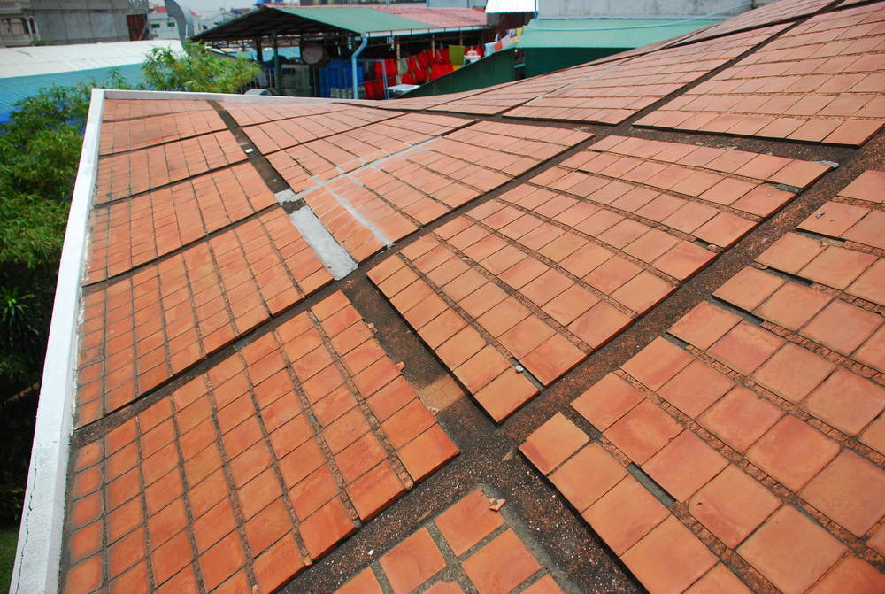 Close-up of the Roof, Courtesy of the Vann Molyvann Project