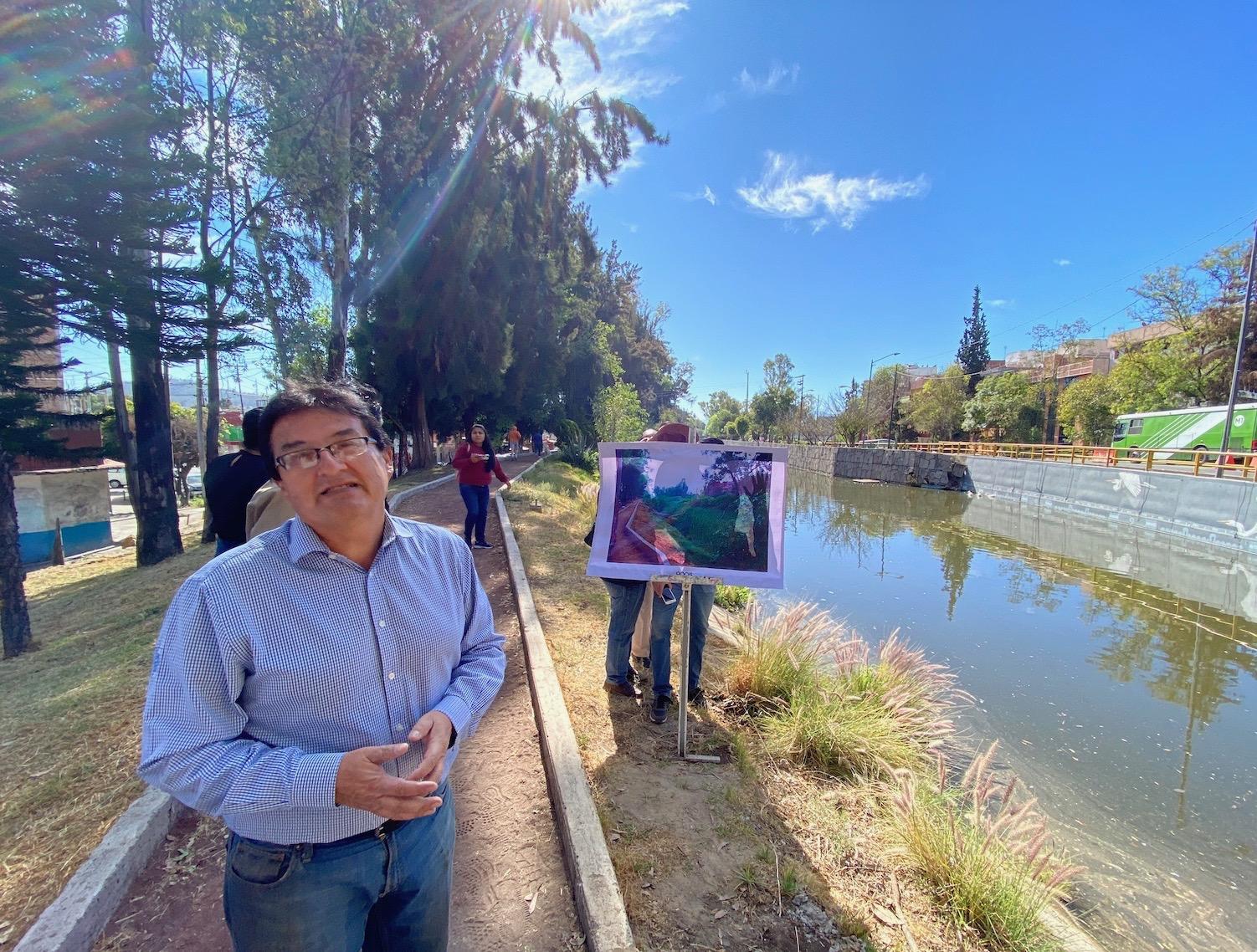 Edmundo Lopez during an site visit, 2020.