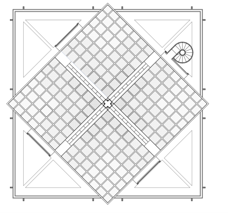 Drawing of the House Roof, Courtesy of the Vann Molyvann Project