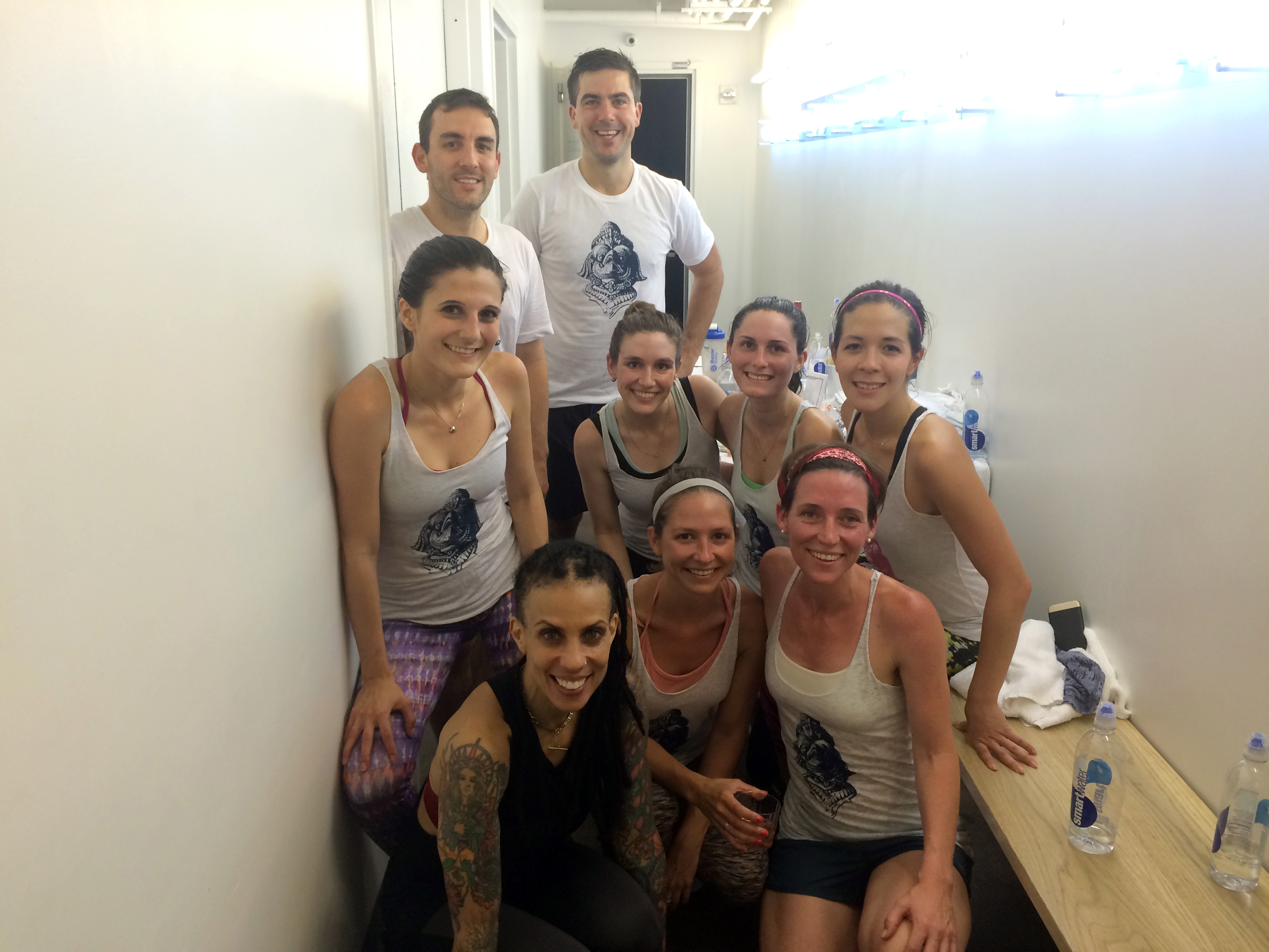 Moai Circle members and friends sweat it out at a SoulCycle charity ride to raise money for Garuda #72