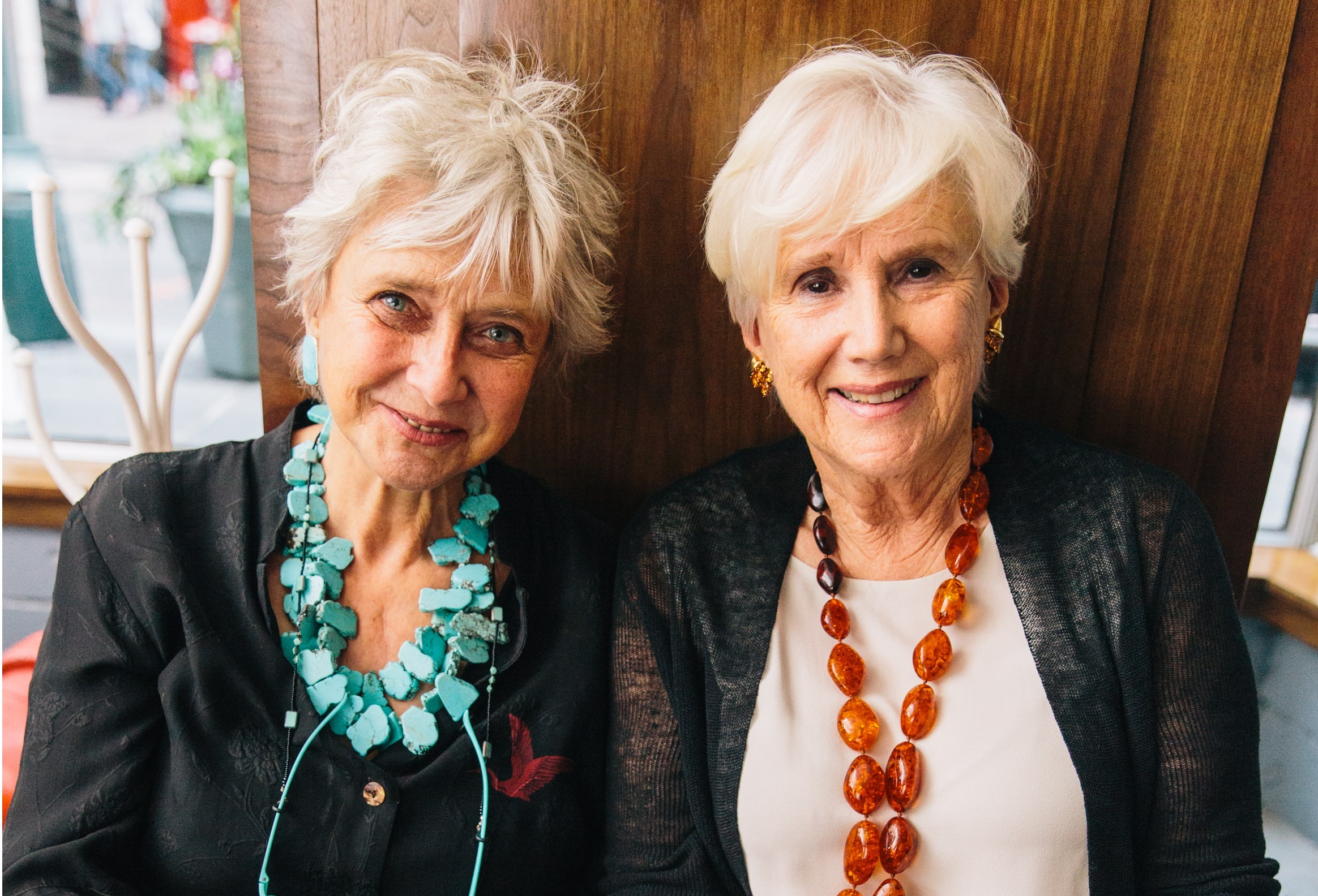 Irina Posner (left), and Lorna Goodman, Chair of WMF Board of Trustees