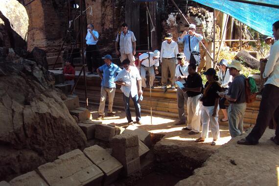 Professor Giorgio Croci at Angkor