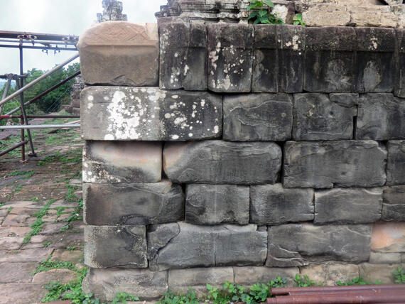Original block found in the hill slope and installed in its original position.