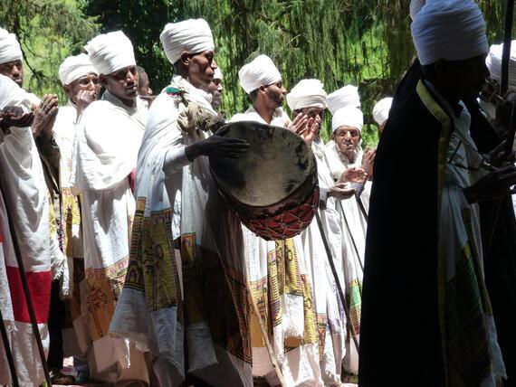 Inauguration ceremony at Yemrehanna Kristos