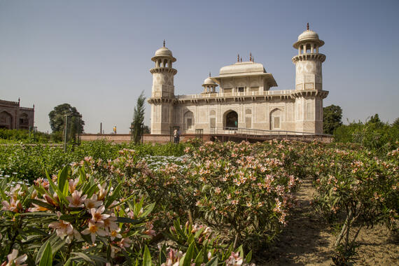 Garden of the Tomb of  I'timad-ud-Daulah, post-conservation March 2017.
