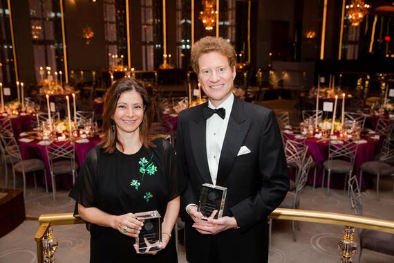 HRH Princess Dana Firas and Dr. Thomas S. Kaplan