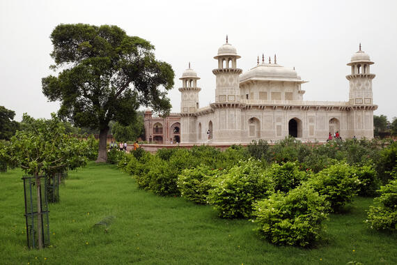 New plantings at the Garden of the Tomb of I'timad-ud-Daulah.