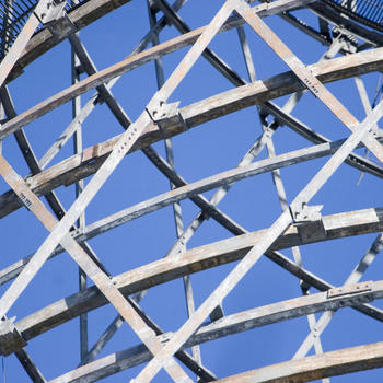 A rusted section of Shukhov Tower
