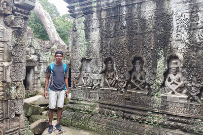 The author at Angkor.