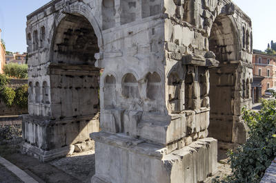 Arch of Janus after restoration, July 2017.