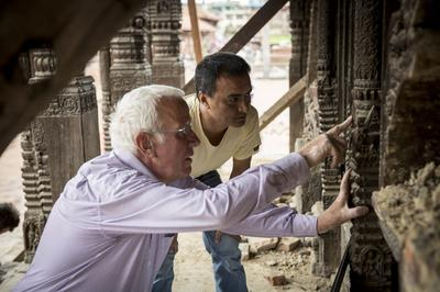 Earthquake response work in Nepal with our partners at Kathmandu Valley Preservation Trust. WMF/Scott Newman