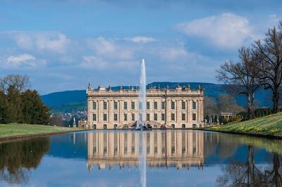 View of Chatsworth House, United Kingdom.
