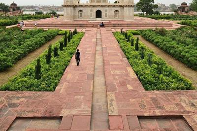 Historic Mughal Gardens of Agra, India