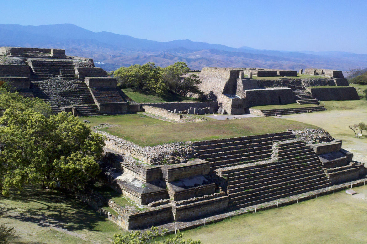 Monte Albán Archaeological Site in Oaxaca, Mexico, which sustained damage during the 2017 earthquakes.