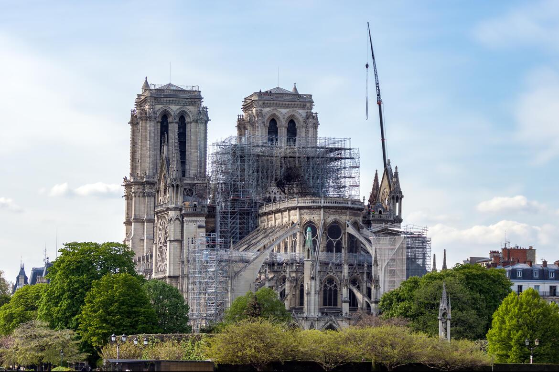 Notre-Dame of Paris after a devastating fire, 2019
