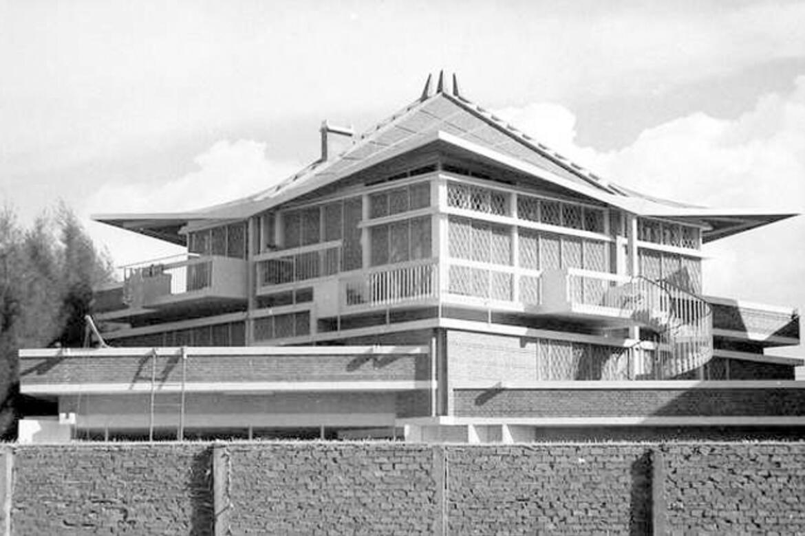 View of architect Vann Molyvann's house in Phnom Penh, Courtesy of the Iconic Houses Network
