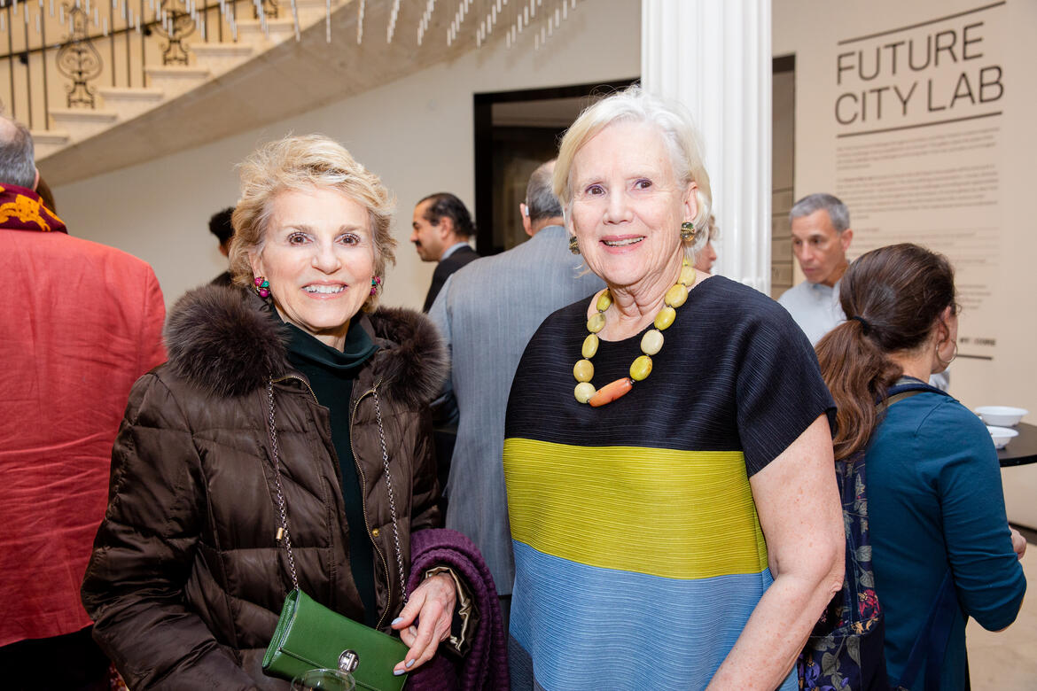 Warrie Price, left, and Lorna Goodman, Chair of WMF's Board of Trustees.