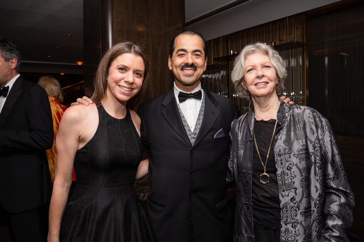 From left to right: Rebecca Gnessin and Richard Brown of American Express, Anne Dowling (photo: Liz Ligon)