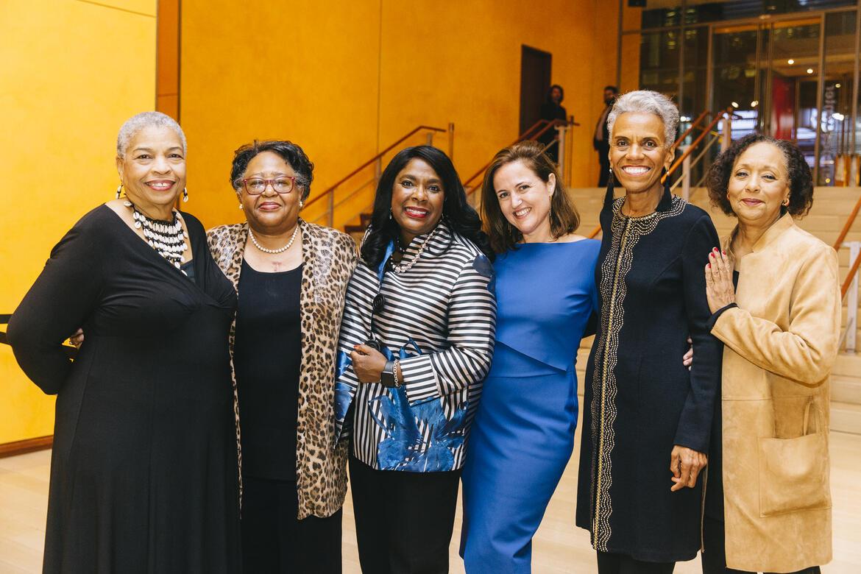 From left: Priscilla Hancock Cooper, Joyce O'Neal, Rep. Terri A. Sewell, Bénédicte de Montlaur, Andrea Taylor, and Carol Jenkins. Image credit: Rowa Lee.