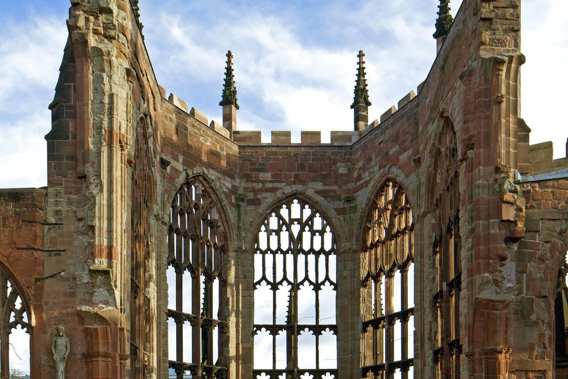 Ruins of the Former Cathedral Church of St. Michael, Coventry (United Kingdom, 2012 Watch): Funding from American Express has contributed to the conservation of this twelfth-century ruin.