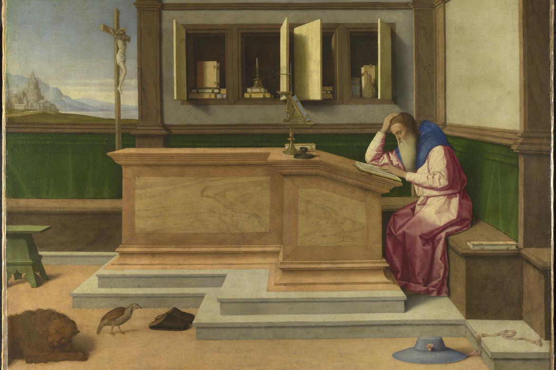 Vincenzo Catena. San Girolamo nel suo studio. The National Gallery, London.