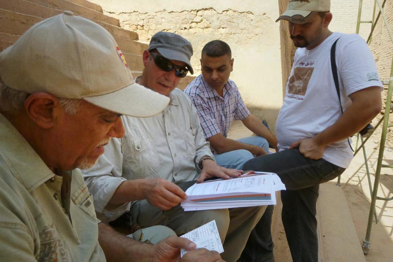 Ishtar Gate, planning for crack monitors