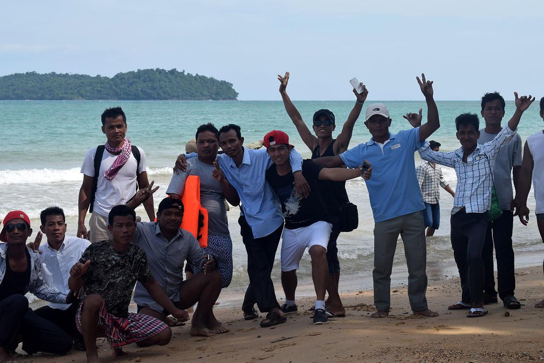WMF Angkor team enjoying the beach, February 2017