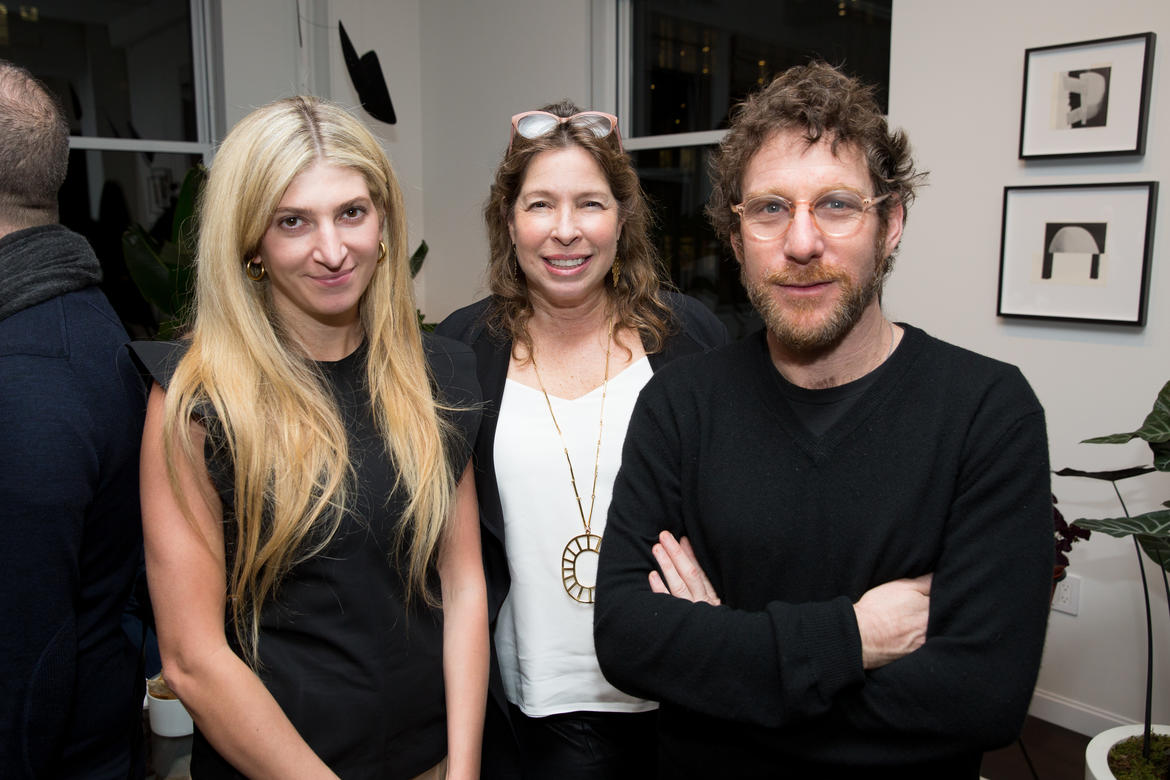 (L to R) Sarah Hoover, Anne Pasternak, and Dustin Yellin.
