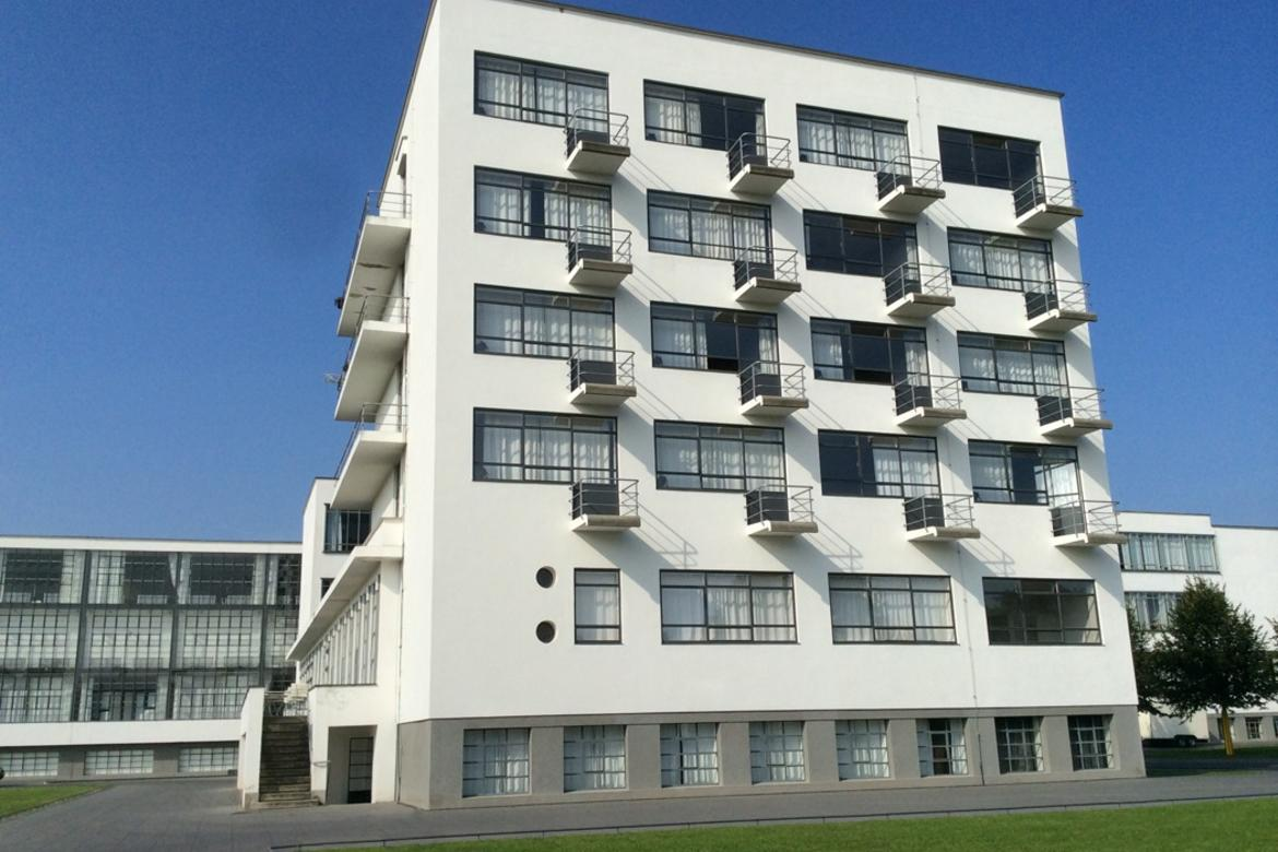 The top two floors of the building hold guest accommodations