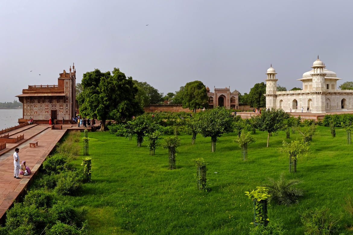 Garden of the Tomb of  I'timad-ud-Daulah, post-conservation, August 2018. Image by Joginder Singh.