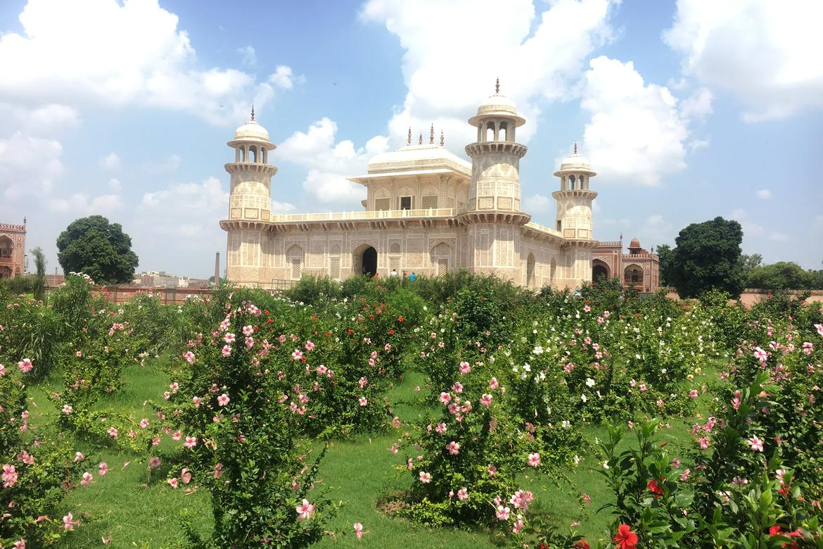Garden of the Tomb of I'timad-ud-Daulah, post-conservation, September 2017.