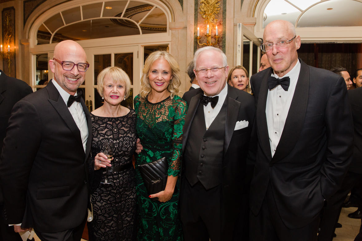 From left: Joshua David, Doreen Lehr, Deborah Lehr, The Honorable John F.W. Rogers, and Hank Paulson (photo: Liz Ligon)