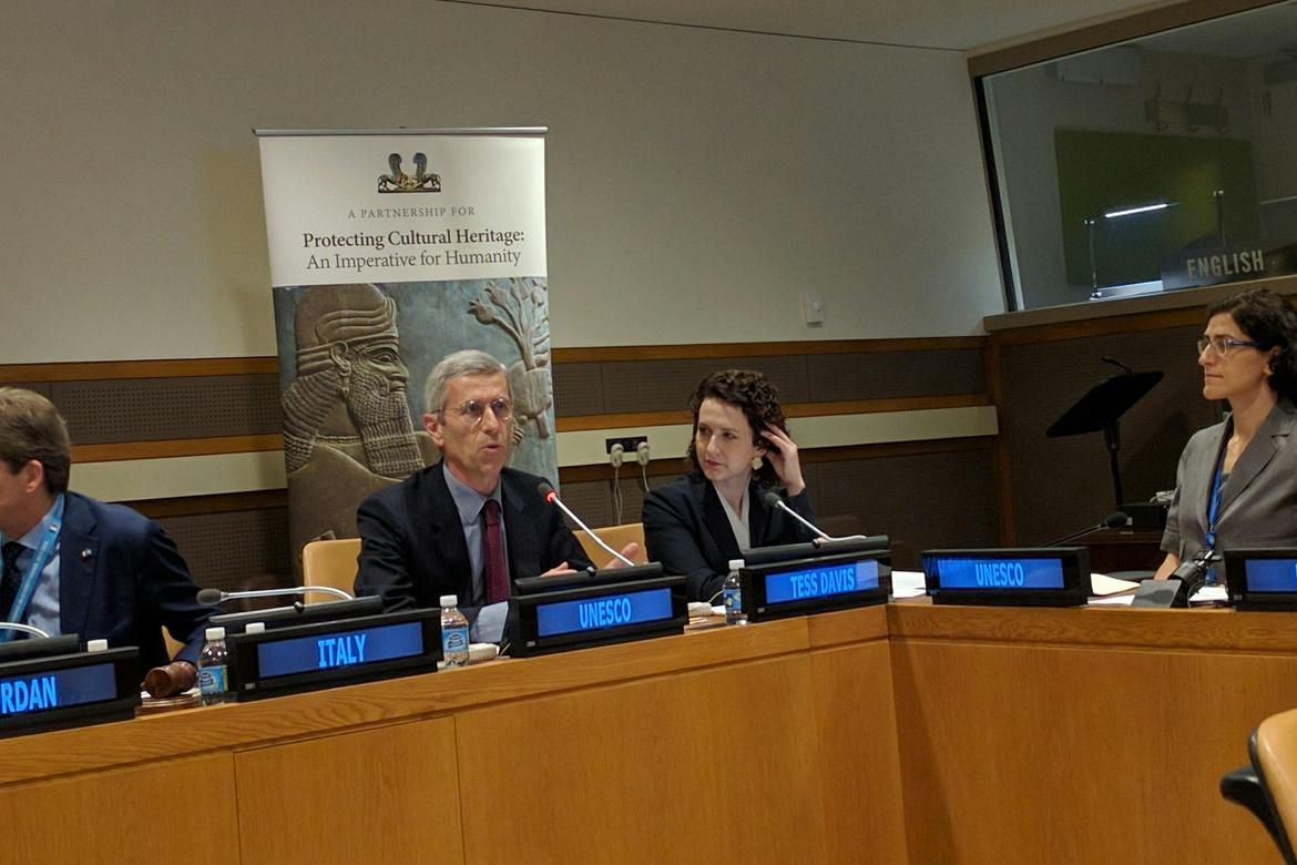 """""""Protecting Cultural Heritage – an Imperative for Humanity"""" meeting."""