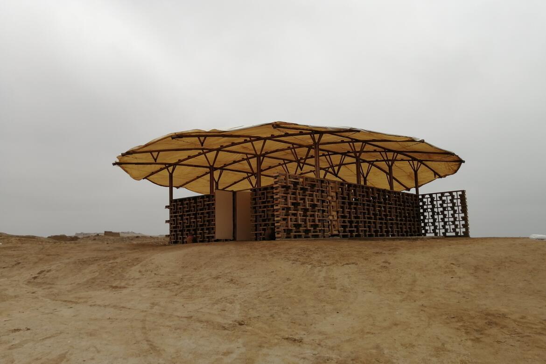 The completed interpretation center at Cerro de Oro.