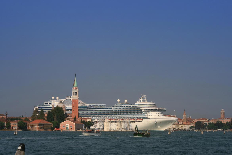 Cruise ship entering St. Mark's Basin, Venice, 2014